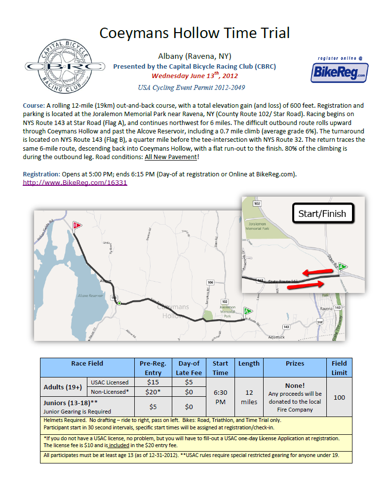 coeymans hollow tt flyer